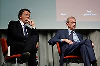 Matteo Renzi e Piero Fassino<br /> Roma 11/10/2017. Centro Congressi Alibert. Presentazione del libro 'PD davvero'.<br /> Rome October 11th 2017. Presentation of the book 'Really PD'.<br /> Foto Samantha Zucchi Insidefoto