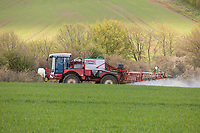 7.5.2021 Spraying fungicide and growth regulator on Winter Barley <br /> ©Tim Scrivener Photographer 07850 303986<br />      ....Covering Agriculture In The UK....