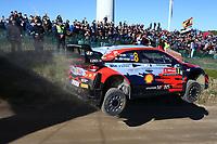 23rd May 2021; Felgueiras, Porto, Portugal; WRC Rally of Portugal, stages SS16-SS20;  Ott Tanak-Hyundai i20WRC