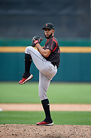 Indianapolis Indians pitcher Dario Agrazal (22) during an International League game against the Buffalo Bisons on June 20, 2019 at Sahlen Field in Buffalo, New York.  Buffalo defeated Indianapolis 11-8  (Mike Janes/Four Seam Images)