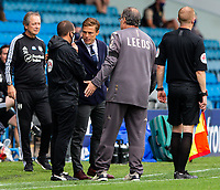 Fulham manager Scott Parker and Leeds United manager Marcelo Bielsa have words with the fourth official<br /> <br /> Photographer Alex Dodd/CameraSport<br /> <br /> The EFL Sky Bet Championship - Leeds United v Fulham - Wednesday 24th June 2020 - Elland Road - Leeds<br /> <br /> World Copyright © 2020 CameraSport. All rights reserved. 43 Linden Ave. Countesthorpe. Leicester. England. LE8 5PG - Tel: +44 (0) 116 277 4147 - admin@camerasport.com - www.camerasport.com<br /> <br /> Photographer Alex Dodd/CameraSport<br /> <br /> The Premier League - Newcastle United v Aston Villa - Wednesday 24th June 2020 - St James' Park - Newcastle <br /> <br /> World Copyright © 2020 CameraSport. All rights reserved. 43 Linden Ave. Countesthorpe. Leicester. England. LE8 5PG - Tel: +44 (0) 116 277 4147 - admin@camerasport.com - www.camerasport.com