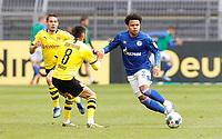 16th May 2020, Signal Iduna Park, Dortmund, Germany; Bundesliga football, Borussia Dortmund versus FC Schalke;  Schalke 04  Weston McKennie takes on BVB's Mahmoud Dahoud