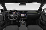 Stock photo of straight dashboard view of 2019 Skoda Superb-Combi Sport-Line 5 Door Wagon Dashboard