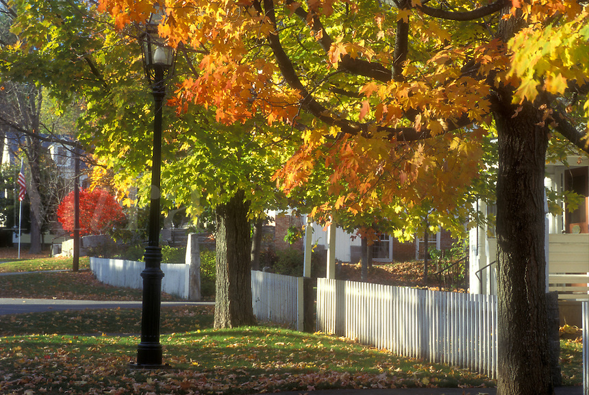fall, Grafton, VT, Vermont, Historical town of Grafton in autumn.
