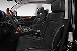 Front seat view of 2018 Lexus LX 570 5 Door SUV Front Seat  car photos