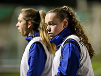 Julie Vankeirsbilck (16) of Club Brugge  pictured after the warm up before a female soccer game between FC Femina White Star Woluwe and Club Brugge YLA on the eleventh matchday of the 2020 - 2021 season of Belgian Scooore Womens Super League , Friday 22 January 2021  in Woluwe , Belgium . PHOTO SPORTPIX.BE   SPP   SEVIL OKTEM