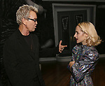 """Billy Idol and Sophia Anne Caruso backstage at """"Beetlejuice The Musical"""" on Broadway at the Winter Garden Theatre on July 30, 2019 in New York City."""