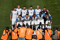 San Diego, CA - Sunday January 29, 2017: USA Starting Eleven prior to an international friendly between the men's national teams of the United States (USA) and Serbia (SRB) at Qualcomm Stadium.