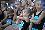 Members of the Reno Elite cheer squad wait to perform before the Reno Aces minor league baseball game in Reno, Nev., on Saturday, Sept. 3, 2011..Photo by Cathleen Allison