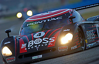 Rolex 24 at Daytona, Daytona International Speedway 5/6 Feb, 2005.The #4 Howard-Boss Pontaic/Crawford races to 2nd place overall..Copyright©F.Peirce Williams 2005