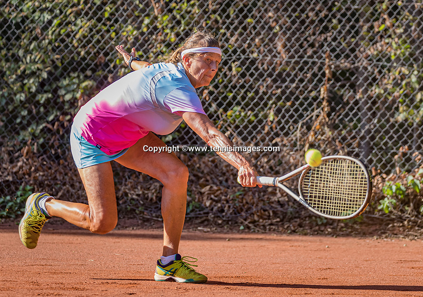 Hilversum, The Netherlands,  August 21, 2020,  Tulip Tennis Center, NKS, National Senior Tennis Championships, Women's single 55+,  Jeanette Ozing <br /> Mieke Smits<br /> Photo: Tennisimages/Henk Koster