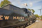 Essex, CT Steam Train excursion. Tangshan Locomotive Works.