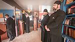 Readers and monks, First Monastic Liturgy, St. Silhouan Monastery, Columbia, California.