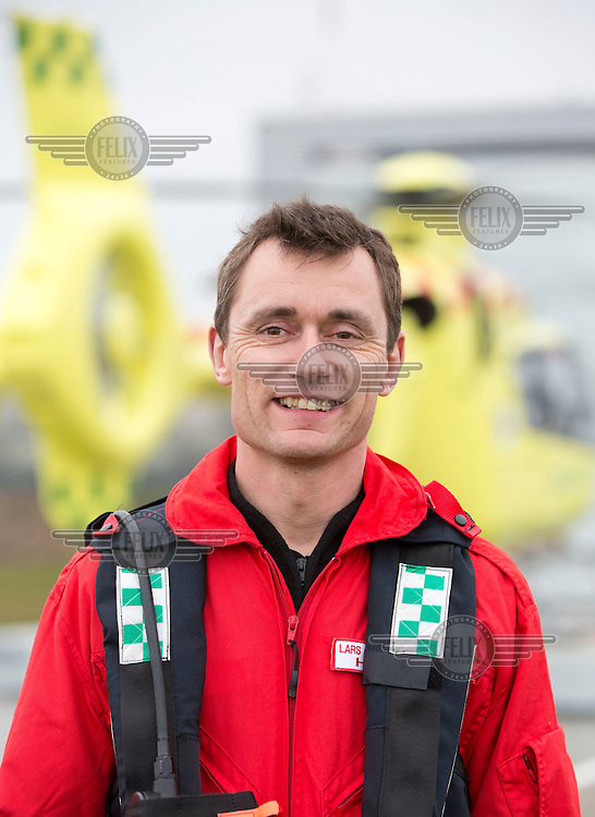 HEMS paramedic Lars Greve-Wilms <br /> <br /> Denmarks first  air ambulance serivce, operated by Norwegian Air Ambulance. The crew is pilot Jan Nielsen, HEMS paramedic Lars Greve-Wilms and doctor Rikke Helene Rasmussen. <br /> <br /> The crew operate an Airbus EC-135 out of the Ringsted base, one of three bases in Denmark.