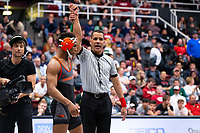 STANFORD, CA - March 7, 2020: Devan Turner of Oregon State University during the 2020 Pac-12 Wrestling Championships at Maples Pavilion.