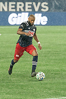 FOXBOROUGH, MA - NOVEMBER 1: Andrew Farrell #2 of New England Revolution during a game between D.C. United and New England Revolution at Gillette Stadium on November 1, 2020 in Foxborough, Massachusetts.