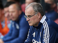 29th August 2021; Turf Moor, Burnley, Lancashire, England; Premier League football, Burnley versus Leeds United: Leeds United manager Marco Bielsa watches intently from the technical area