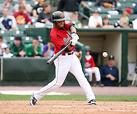 June 1st 2008:  Outfielder Darnell McDonald of the Rochester Red Wings, Class-AAA affiliate of the Minnesota Twins, during a game at Frontier Field in Rochester, NY.  Photo By Mike Janes/Four Seam Images