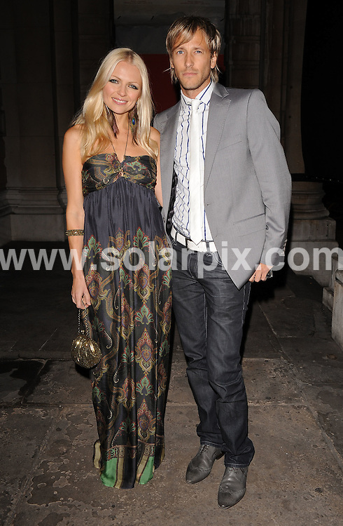 **ALL ROUND EXCLUSIVE PICTURES FROM SOLARPIX.COM**.**WORLDWIDE SYNDICATION RIGHTS**.Outside arrivals at the On_Off  Party, London Fashion Week's off-schedule designer initiative celebrating its 10th anniversary. The event also plays host to charity auction of exclusive beach huts designed by Guinness, Dixon and Geldof.  Held at the Royal Academy of Arts, London, UK.  Monday September 15, 2008...This pic: Hannah Sandling & Rick Parfitt Jnr..JOB REF: 7352 SSD     DATE: 15_09_2008.**MUST CREDIT SOLARPIX.COM OR DOUBLE FEE WILL BE CHARGED* *UNDER NO CIRCUMSTANCES IS THIS IMAGE TO BE REPRODUCED FOR ANY ONLINE EDITION WITHOUT PRIOR PERMISSION*