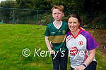 Tyrone supporter Claire Tracey-O'Driscoll and her son Eoghan O'Driscoll (Kerry supporter) who attended the All-Ireland Semi-final