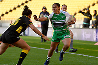 Janna Michal Vaughan of the Manawatu makes a break during the Farah Palmer Cup Rugby – Wellington v Manawatu at Sky Stadium, Wellington, New Zealand on Friday 25 September 2020. <br /> Photo by Masanori Udagawa. <br /> www.photowellington.photoshelter.com