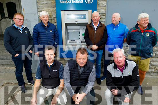 The group of Ballybunion businesses disappointed that the Bank of Ireland branch in Ballybunion is closing from Monday September 28th. Kneeling front: Cormac Cahill, Kevin O'Callaghan and Padraig Hanrahan. Back l to r: Greg Ryan, Jackie Hourigan, Donal Liston, Ger Walsh and John Dee.