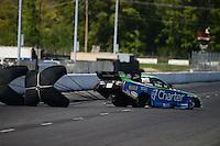 Sept. 29, 2012; Madison, IL, USA: NHRA funny car driver Tony Pedregon during qualifying for the Midwest Nationals at Gateway Motorsports Park. Mandatory Credit: Mark J. Rebilas-