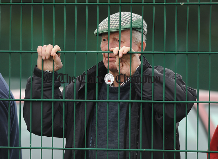 Keeping an eye on all the action during the hurling semi-final between Ballyea and Newmarket at Clarecastle. Photograph by John Kelly.