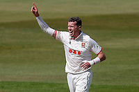 Petr Siddle of Essex celebrates taking a wicket (not given) during Warwickshire CCC vs Essex CCC, LV Insurance County Championship Group 1 Cricket at Edgbaston Stadium on 23rd April 2021