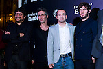 Spanish film director Santi Amodeo, actor Ernesto Alterio, FC Barcelona's football player Andres Iniesta and actor Quim Gutierrez (left to right) attend the premiere photocall of the movie '¿Quien mato a Bambi?' at Cine Comedia on November 7, 2013 in Barcelona, Spain. (ALTERPHOTOS/Alex Caparros)