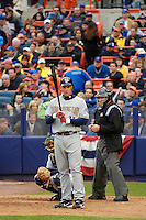 3 April 2006: Ryan Zimmerman, third baseman for the Washington Nationals at bat during Opening Day against the New York Mets at Shea Stadium, in Flushing, New York. The Mets defeated the Nationals 3-2 to lead off the 2006 MLB season...Mandatory Photo Credit: Ed Wolfstein Photo..