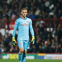 Daniel Bentley of Brentford seen during the Sky Bet Championship match between Brentford and Derby County at Griffin Park, London, England on 26 September 2017. Photo by Carlton Myrie / PRiME Media Images.
