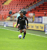 4th May 2021; The Valley, London, England; English Football League One Football, Charlton Athletic versus Lincoln City; Tayo Edun on the attack along the wing