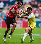 Japan vs Cook Islands during the Cathay Pacific / HSBC Hong Kong Sevens at the Hong Kong Stadium on 29 March 2014 in Hong Kong, China. Photo by Andy Jones / Power Sport Images