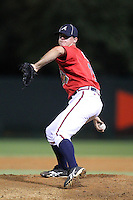 Atlanta Braves pitcher Jarrett Miller #15 during an Instructional League game against the Houston Astros at Wide World of Sports on September 28, 2011 in Kissimmee, Florida.  (Mike Janes/Four Seam Images)
