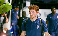 GEORGETOWN, GRAND CAYMAN, CAYMAN ISLANDS - NOVEMBER 19: Josh Sargent #19 of the United States walks to the USMNT locker room during a game between Cuba and USMNT at Truman Bodden Sports Complex on November 19, 2019 in Georgetown, Grand Cayman.