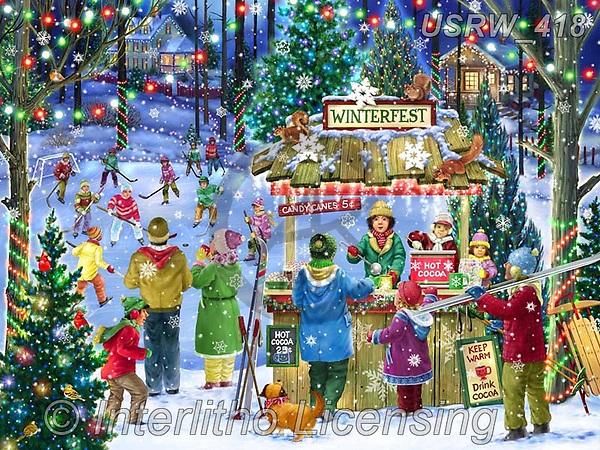 Randy, CHRISTMAS LANDSCAPES, WEIHNACHTEN WINTERLANDSCHAFTEN, NAVIDAD PAISAJES DE INVIERNO, paintings+++++,USRW418,#xl#