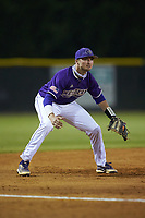Western Carolina Catamounts third baseman Zach Ketterman (4) on defense against the St. John's Red Storm at Childress Field on March 12, 2021 in Cullowhee, North Carolina. (Brian Westerholt/Four Seam Images)