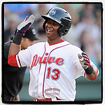 #OTD On This Day, May 24, 2015, Rafael Devers of the Greenville Drive scored a run in a game against the Greenville Drive on Sunday, May 24, 2015, at Fluor Field at the West End in Greenville, South Carolina. Devers has played with Boston for the past three years. (Tom Priddy/Four Seam Images) #MiLB #OnThisDay #MissingBaseball #nobaseball #stayathome #minorleagues #minorleaguebaseball #Baseball #SallyLeague #AloneTogether