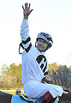 Jan.21, 2013 - Hot Springs, Arkansas, U.S -   Jon Court rode Will Take Charge  trained by D. Wayne Lukas, to victory in the 6th running of the Smarty Jones Stakes Saturday afternoon at Oaklawn Park.  (Credit Image: © Jimmy Jones/Eclipse/ZUMAPRESS.com)