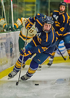 29 December 2013:  Canisius College Golden Griffins forward Jack Hidi, a Freshman from Toronto, Ontario, in second period action against the University of Vermont Catamounts at Gutterson Fieldhouse in Burlington, Vermont. The Catamounts defeated the Golden Griffins 6-2 in the 2013 Sheraton/TD Bank Catamount Cup NCAA Hockey Tournament. Mandatory Credit: Ed Wolfstein Photo *** RAW (NEF) Image File Available ***