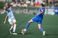 Allston, MA - Saturday August 19, 2017: Marta Vieira Da Silva, Amanda Frisbie during a regular season National Women's Soccer League (NWSL) match between the Boston Breakers and the Orlando Pride at Jordan Field.
