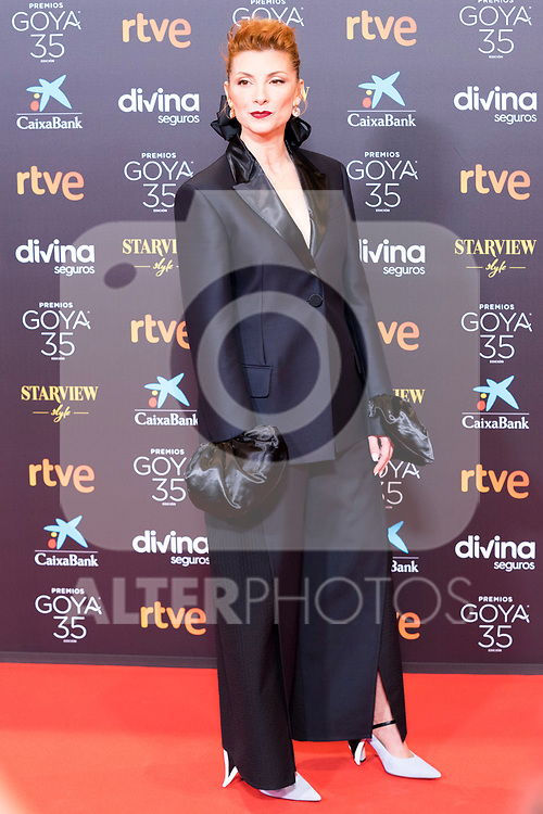 Actress Najwa Nimri attends the red carpet previous to Goya Awards 2021 Gala in Malaga . March 06, 2021. (Alterphotos/Francis González)