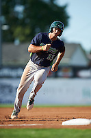 Vermont Lake Monsters outfielder Brett Siddall (13) running the bases during a game against the Batavia Muckdogs August 9, 2015 at Dwyer Stadium in Batavia, New York.  Vermont defeated Batavia 11-5.  (Mike Janes/Four Seam Images)