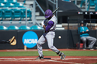 Immanuel Wilder (27) of the Western Carolina Catamounts is hit by a pitch during the game against the Kennesaw State Owls at Springs Brooks Stadium on February 22, 2020 in Conway, South Carolina. The Owls defeated the Catamounts 12-0.  (Brian Westerholt/Four Seam Images)