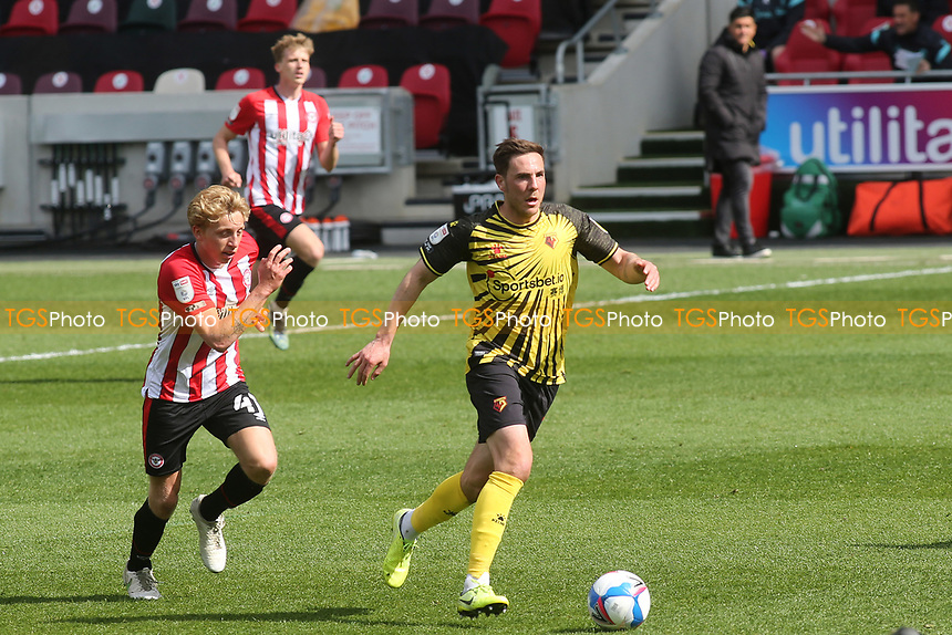 Dan Gosling of Watford in action during Brentford vs Watford, Sky Bet EFL Championship Football at the Brentford Community Stadium on 1st May 2021