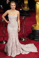 HOLLYWOOD, LOS ANGELES, CA, USA - MARCH 02: Kristen Bell at the 86th Annual Academy Awards held at Dolby Theatre on March 2, 2014 in Hollywood, Los Angeles, California, United States. (Photo by Xavier Collin/Celebrity Monitor)