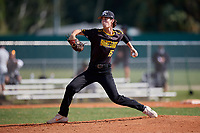 Isaac Fix (15) during the WWBA World Championship at Terry Park on October 11, 2020 in Fort Myers, Florida.  Isaac Fix, a resident of Vinton, Virginia who attends William Byrd High School, is committed to Davidson.  (Mike Janes/Four Seam Images)