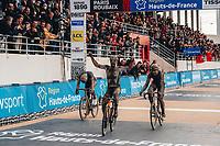 3rd October 2021, Paris–Roubaix Mens Cycling tour;  Sonny Colbrelli during the Paris–Roubaix which is famous for its uneven cobblestone course.