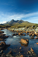 Sgurr nan Gillean, The Black Cuillin, from Sligachan, Isle of Skye, Inner Hebrides, Highland<br /> <br /> Copyright www.scottishhorizons.co.uk/Keith Fergus 2011 All Rights Reserved